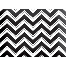 CHEVRON NOTE CARD - BLACK
