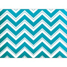 CHEVRON NOTE CARD - BLUE