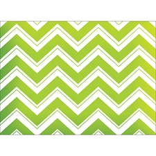 CHEVRON NOTE CARD - GREEN