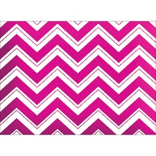CHEVRON NOTE CARD - PINK