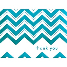 CHEVRON THANK YOU NOTE - BLUE