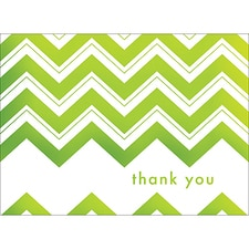 CHEVRON THANK YOU NOTE - GREEN