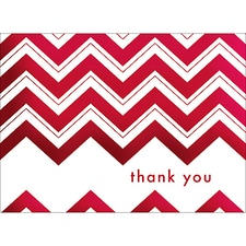 CHEVRON THANK YOU NOTE - RED