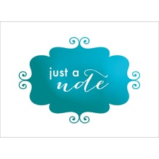 BANNER NOTE CARD - BLUE