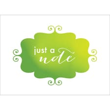 BANNER NOTE CARD - GREEN
