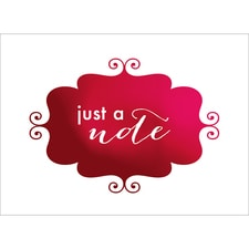 BANNER NOTE CARD - RED