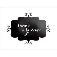 BANNER THANK YOU NOTE - BLACK