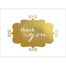 BANNER THANK YOU NOTE - GOLD
