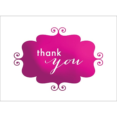 BANNER THANK YOU NOTE - PINK