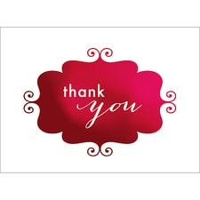 BANNER THANK YOU NOTE - RED