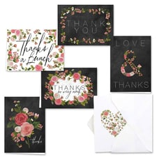 CHALKBOARD FLORAL THANK YOU SET