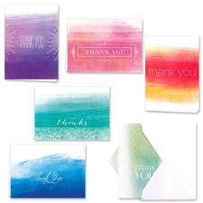 OMBRE WATERCOLOR THANK YOU SET
