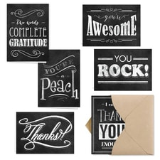 RETRO CHALKBOARD NOTE CARD SET