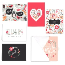 FLORAL PRINT NOTE CARD SET