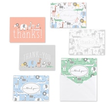 BABY ANIMALS THANK YOU SET