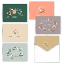 SOFT SPRINGS FLORAL NOTE CARD SET