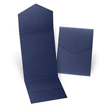 Navy Shimmer Pocket Folder 5 1/4 X 7 5/16