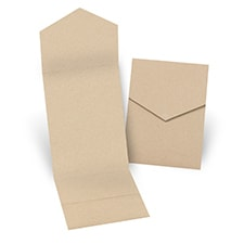 Kraft Pocket Folder 5 1/4 X 7 5/16