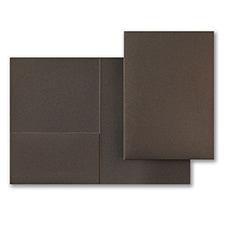 Mocha Shimmer Folder Pocket 5 1/4 x 7 5/16