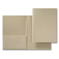 Gold Shimmer Folder Pocket 5 1/4 x 7 5/16