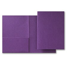 Purple Shimmer Folder Pocket 5 1/4 X 7 5/16