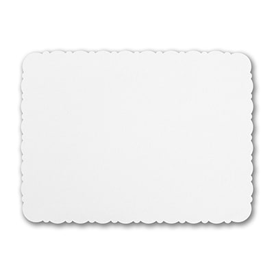 Scalloped White Correspondence Card