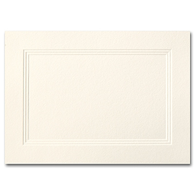 Ecru A1 Foldover Triple Panel Card 3 1/2 x 4 7/8