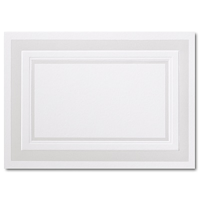 Pearl Embossed Border Hi White Foldover Response Card 3 1/2 x 4 7/8