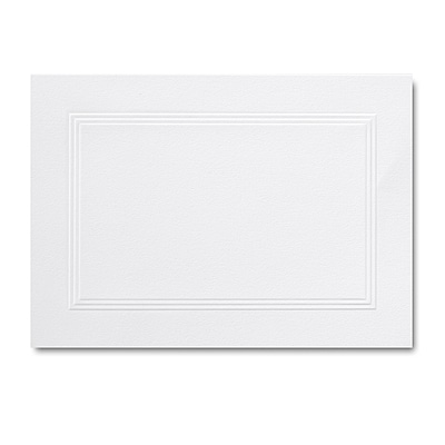Hi White A1 Foldover Triple Panel Card 3 1/2 x 4 7/8