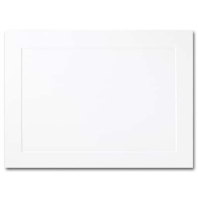 Hi White A6 Foldover Panel Card 4 5/8 x 6 1/4