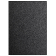 Black Shimmer Jumbo Flat Invitation 5 1/8 X 7 1/4