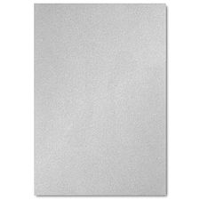 Silver Shimmer Jumbo Flat Invitation 4 7/8 X 7