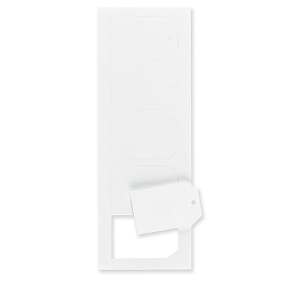 Hi White Medium Luggage Tags 2 1/2 x 4