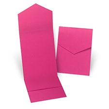 Fuchsia Pocket Folder 5 1/4 X 7 5/16