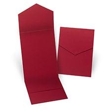 Claret Pocket Folder 5 1/4 X 7 5/16