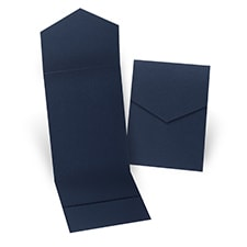 Navy Pocket Folder 5 1/4 X 7 5/16