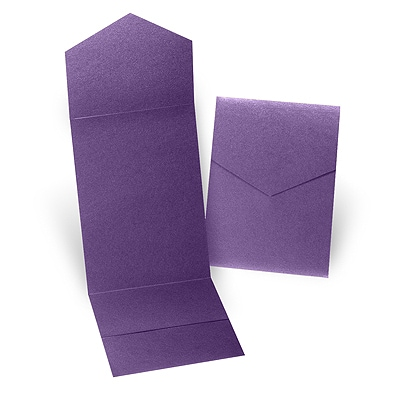 Purple Shimmer Pocket Folder 5 1/4 X 7 5/16