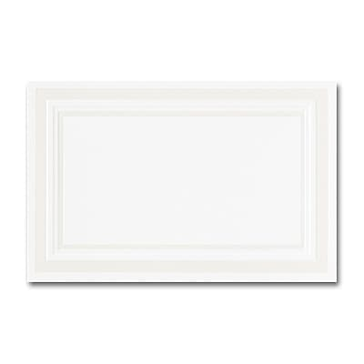 Pearl Embossed Border Hi White Foldover Place Card 2 3/4 x 4 1/4