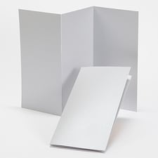 Silver Shimmer Tri-Fold Program 4 X 8