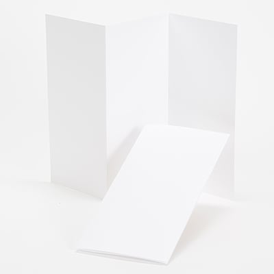 Hi White Tri-Fold Program 4 X 8