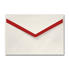 5 7/16 X 7 7/8 Merlot Lined Pointed Flap Ecru Envelope