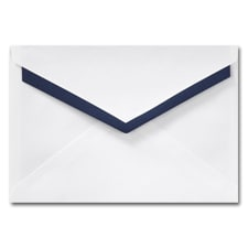 5 7/16 X 7 7/8 Midnight Lined Pointed Flap Hi White Envelope