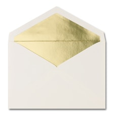 5 7/16 X 7 7/8 Gold Lined Pointed Flap Ecru Envelope