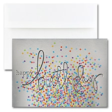 BIRTHDAY- WORDING WITH CONFETTI