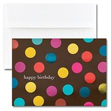 Birthday - Big Dots on Brown