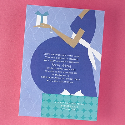 Blue Belly Shower Invitation