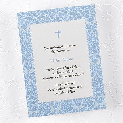 Dots of Blue Baptism Invitation