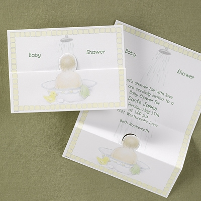 Bath Time Baby Shower Invitation