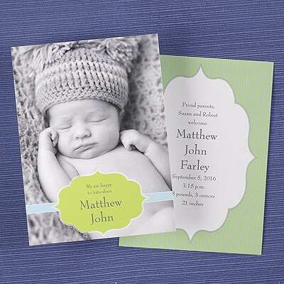 Proud Introduction - Birth Announcement