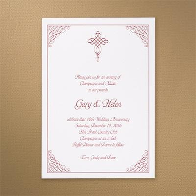 Embellished Corners - Invitation